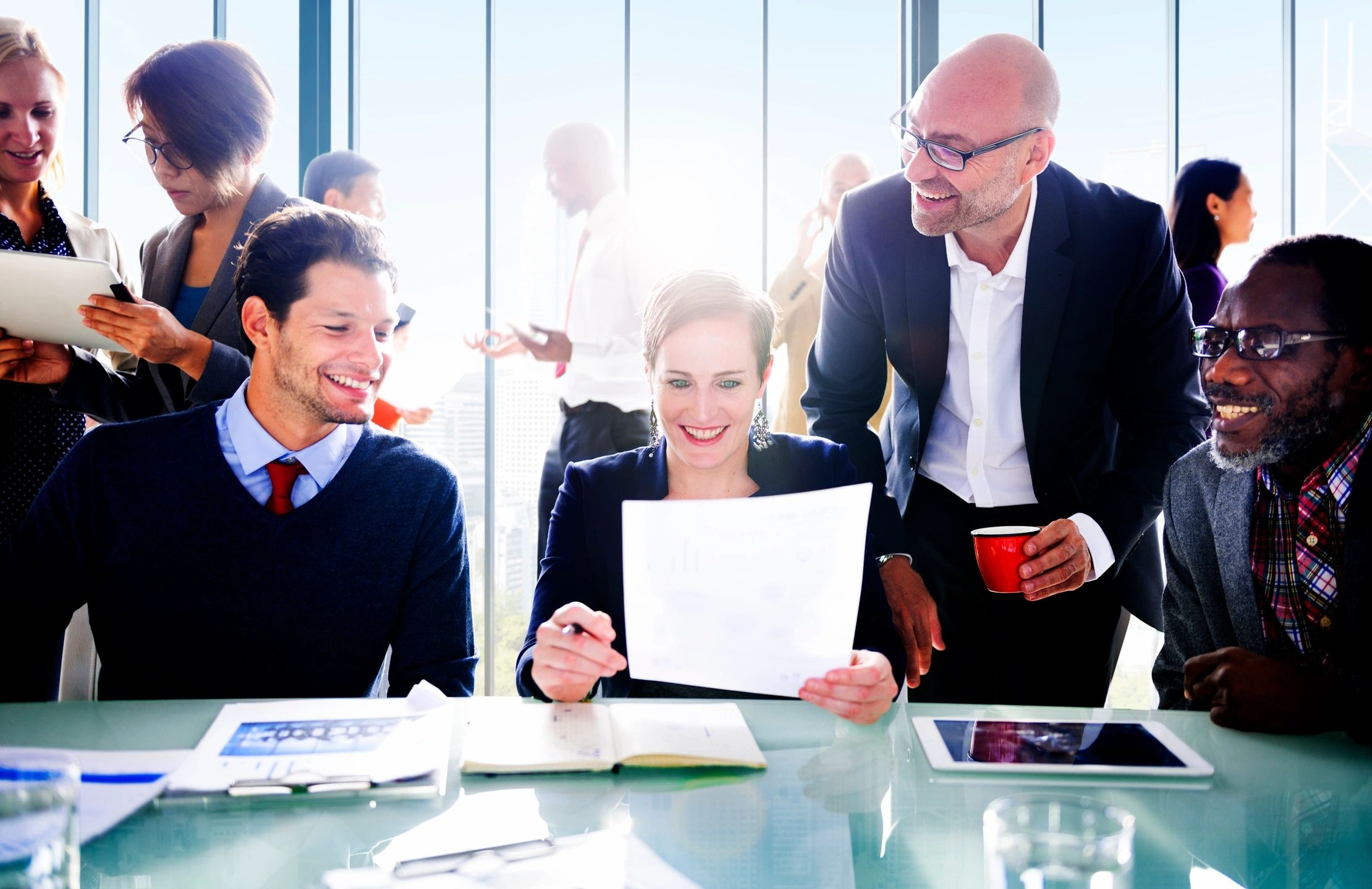 A group of business associates sitting at a table